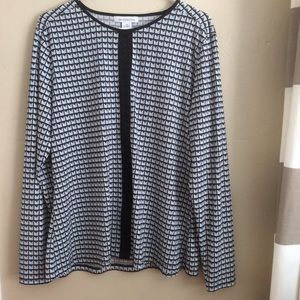Liz Claiborne Graphic Long Sleeve Tunic Top, XL
